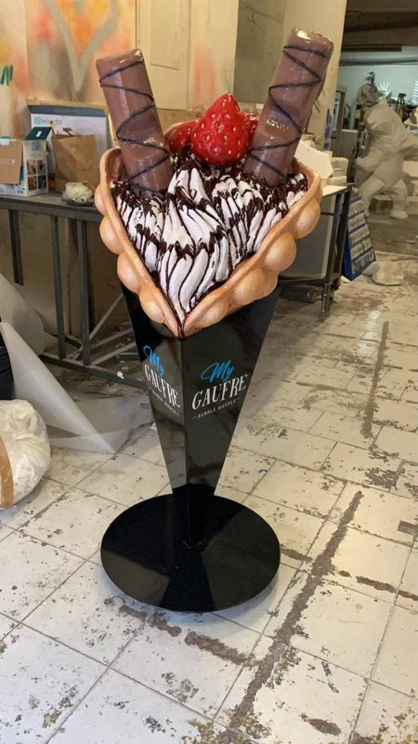 L'entreprise My Gaufre à Nice s'est fait voler sa mascotte, dans la nuit de lundi à mardi.