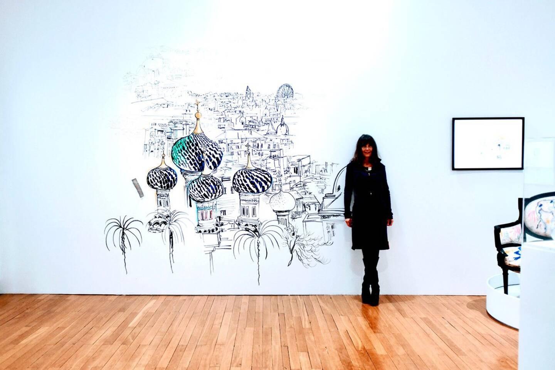 Une exposition en solitaire pour Virginie Broquet: ses 40 tableaux et ses trois fresques murales ont beaucoup plu aux fantômes du musée Masséna!