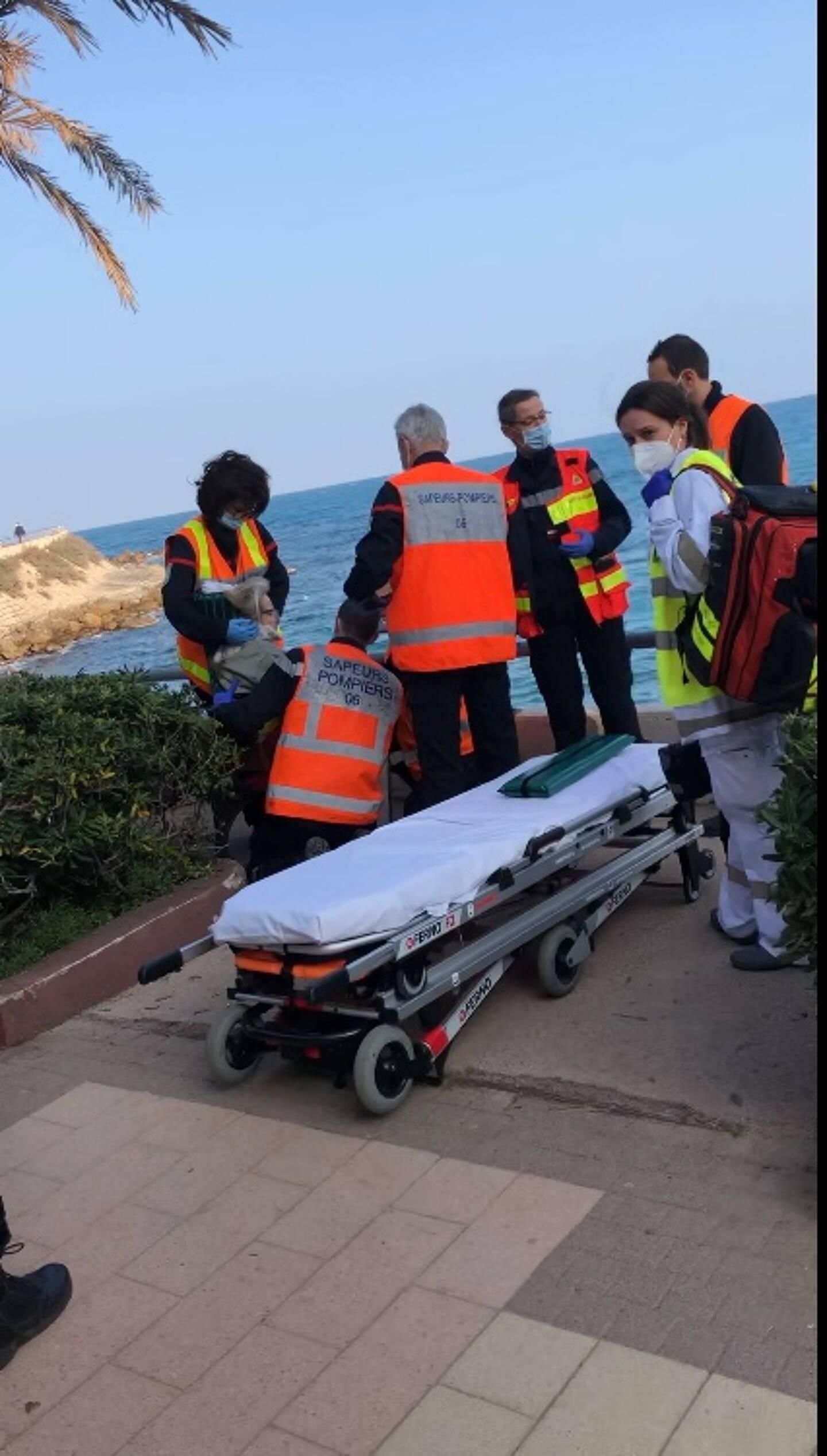 La victime a été évacué vers l'hôpital Pasteur de Nice.