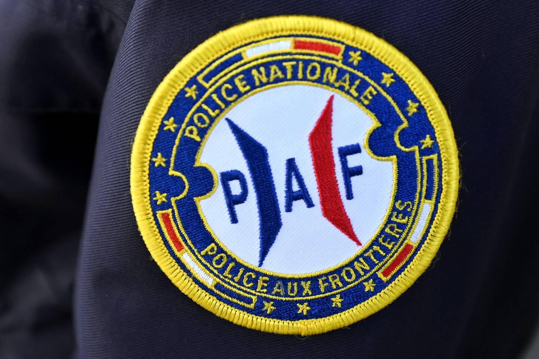 Écusson d'un policier de la Police aux frontières (PAF). (Photo illustration PQR Alexandre Marchi)