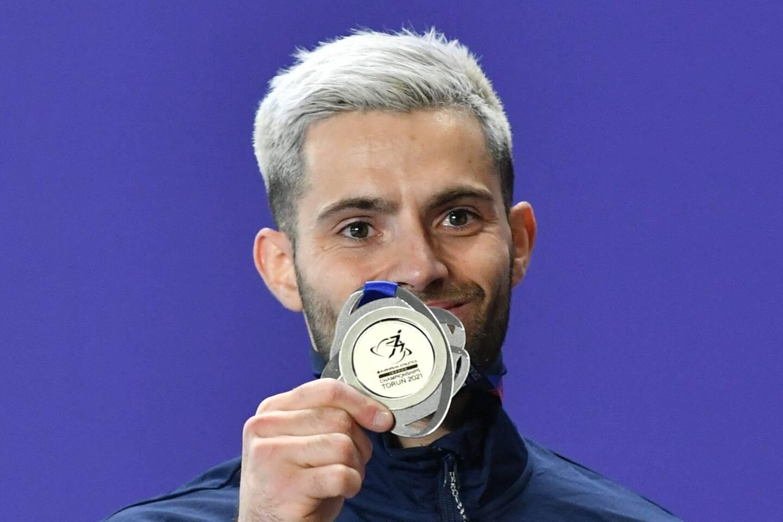 Valentin Lavillenie a décroché l'argent aux championnats d'Europe en salle.