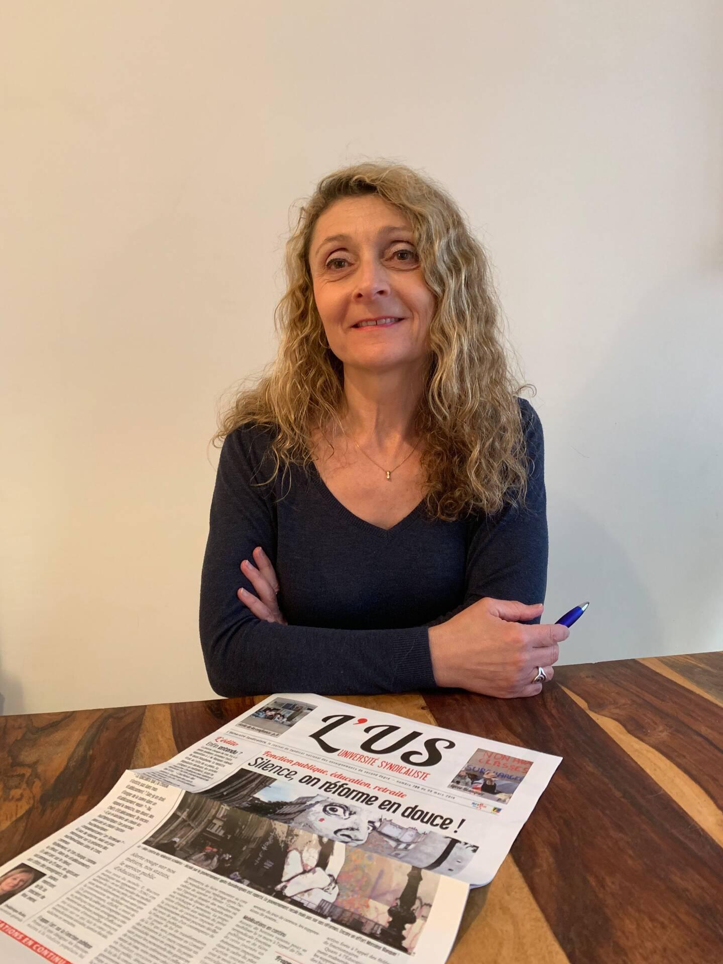 Fabienne Langoureau, secrétaire académique du syndicat enseignant SNES-FSU.