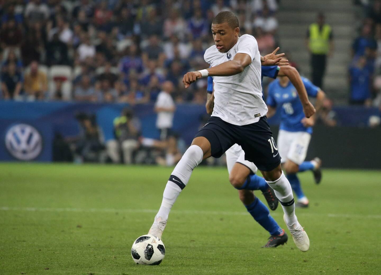 Mbappé et les Bleus avaient déjà joué à l'Allianz Riviera le 1er juin 2018 face à l'Italie pour préparer le Mondial.