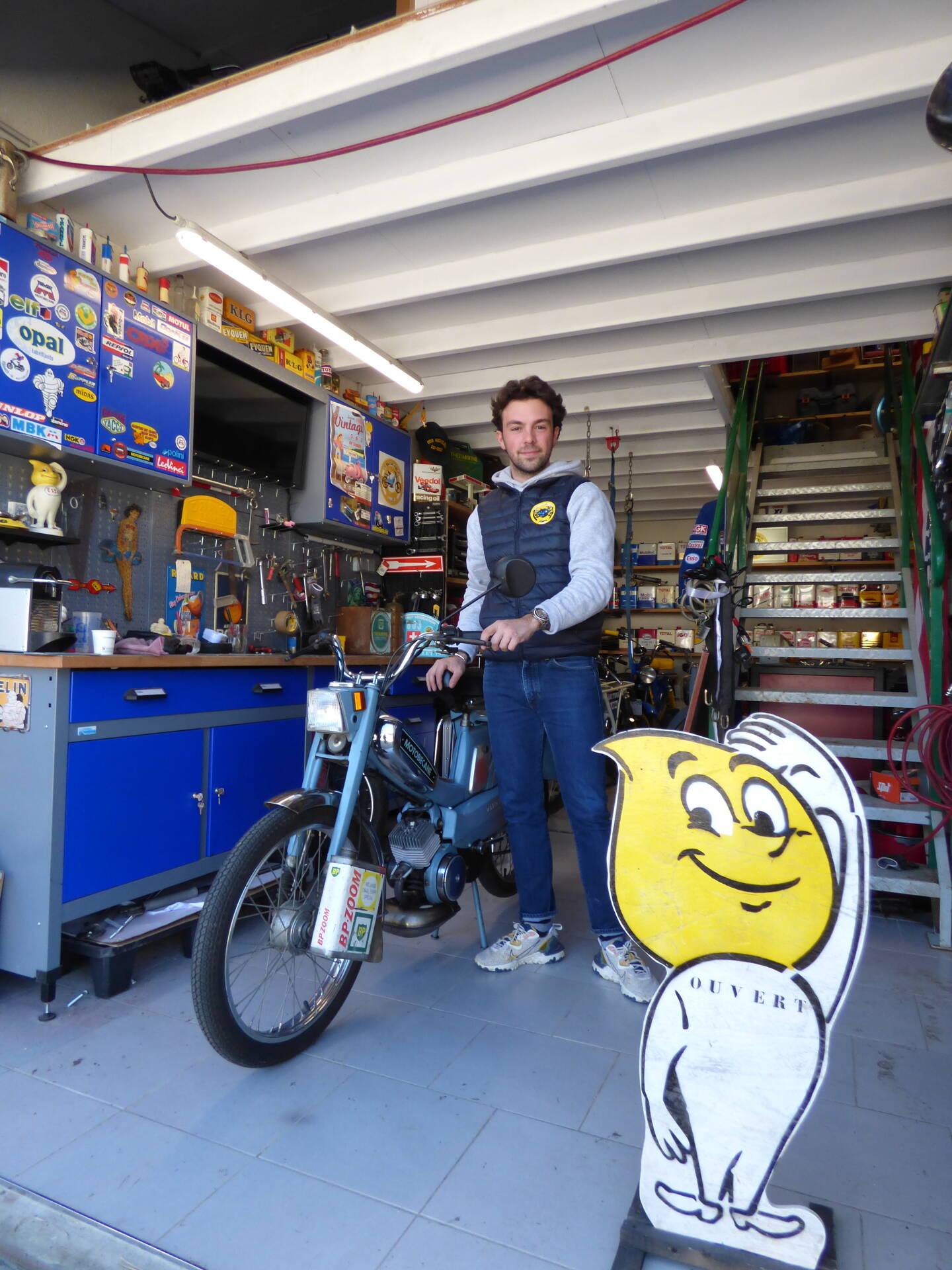 Vincent, passionné de cyclos.
