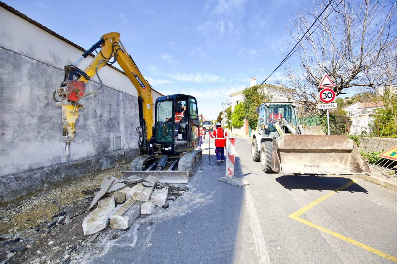 L'avenue de Montferrat, considérée dangereuse pour les piétons, est en travaux jusqu'à la fin du mois de mars.