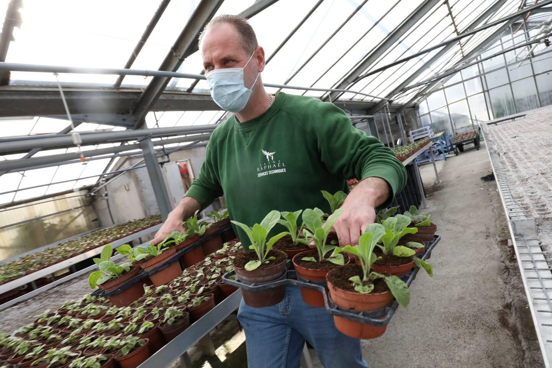 Christophe Mauro, passionné depuis ses 12 ans lorsqu'il aidait déjà sa grand-mère au jardin. Son père est jardinier au Creps et lui ne se lasse pas du plaisir de voir grandir ses plants.