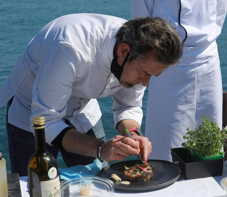 Le tartare de loup frais du chef Mickael Feval.