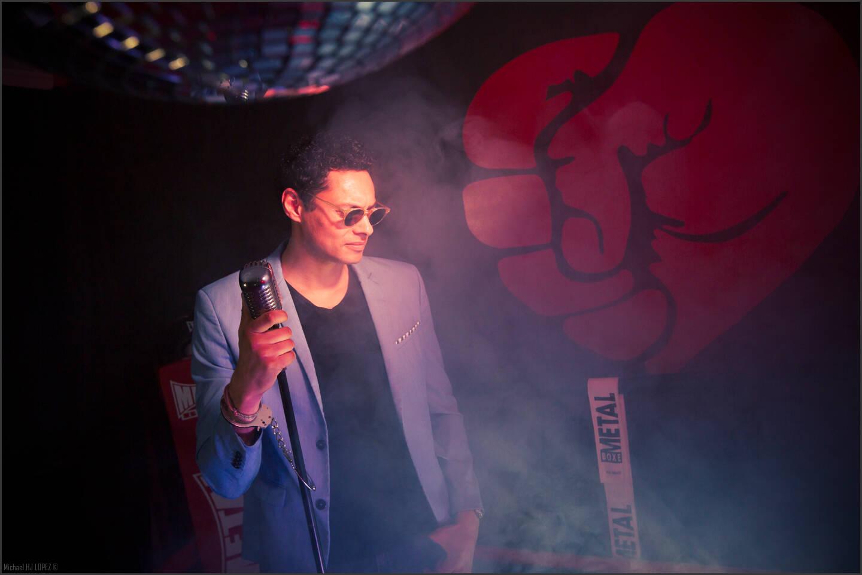 """Bruno """"Fabber"""" Fabrice et Matt Size, disc jockeys."""