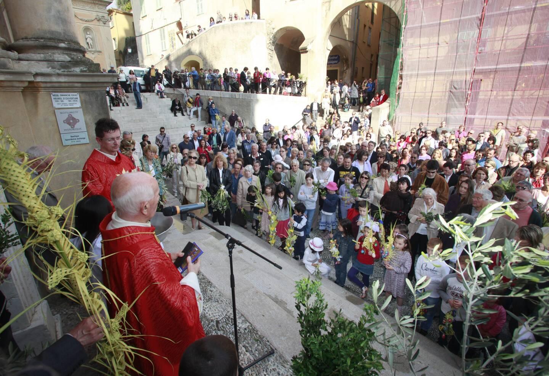 Cette année, pas de rassemblement à l'extérieur pour la bénédiction des Rameaux.