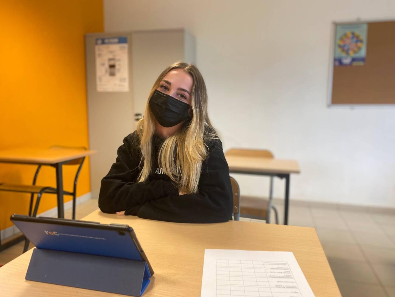 Lily, élève de Terminale, a fini par trouver ses marques.