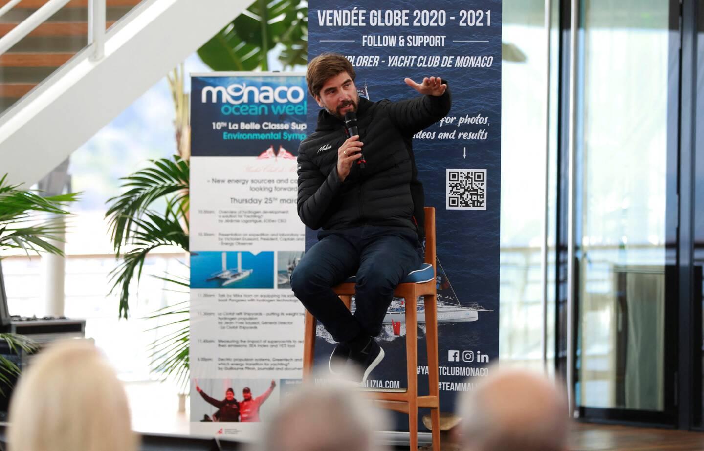 Boris Herrmann a témoigné, ce vendredi, de son Vendée Globe au Yacht-club de Monaco, dans le cadre de la Monaco Ocean Week.