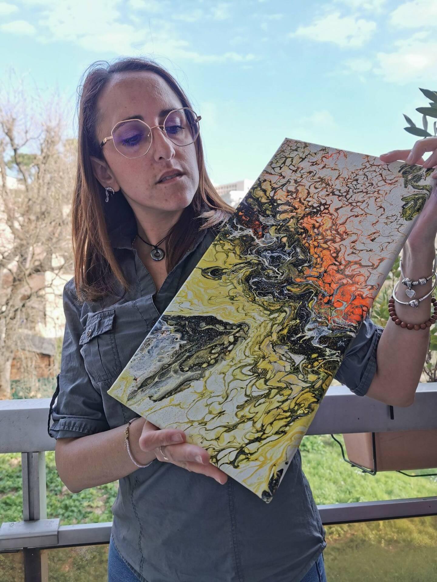 Cécilia Fouquet espère pouvoir mettre plusieurs œuvres en vente.