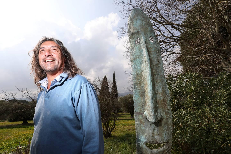 Sculpteur sur bronze et acier, Jean-Luc Ducreux a travaillé d'arrache-pied.