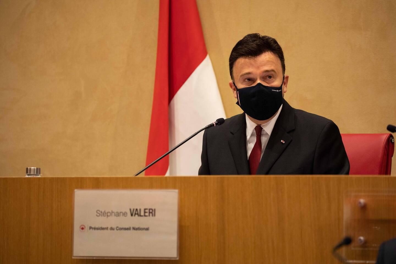 Stéphane Valeri a été réélu jeudi soir à la tête du Conseil national à l'occasion de l'ouverture de la Session de Printemps. (Photo Conseil National)