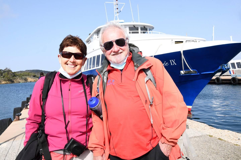 Claudine et Jean-Pierre, habitant Pourrières sont venus fêter leurs noces d'Or, ce samedi, sur l'une des îles d'Or.