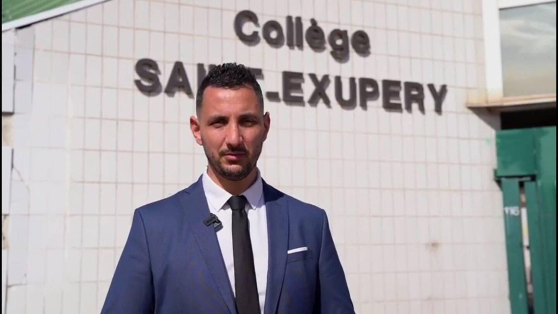 """Mourad Ighzernali, le principal adjoint du collège Saint-Exupéry de Saint-Laurent-du-Var, principale cheville ouvrière du projet d'établissement """"Collège du bien-être""""."""