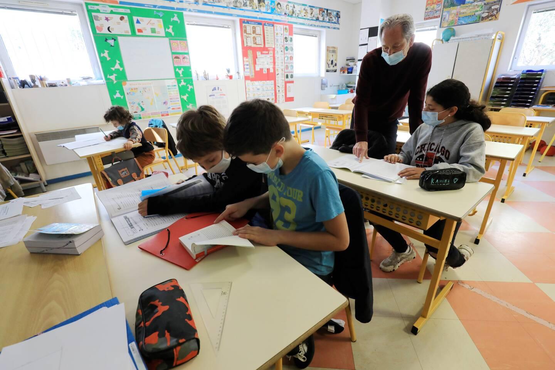 Dans le centre de Nice, l'école Ronchese a accueilli ce mardi 17 élèves, contre 420 d'ordinaire.