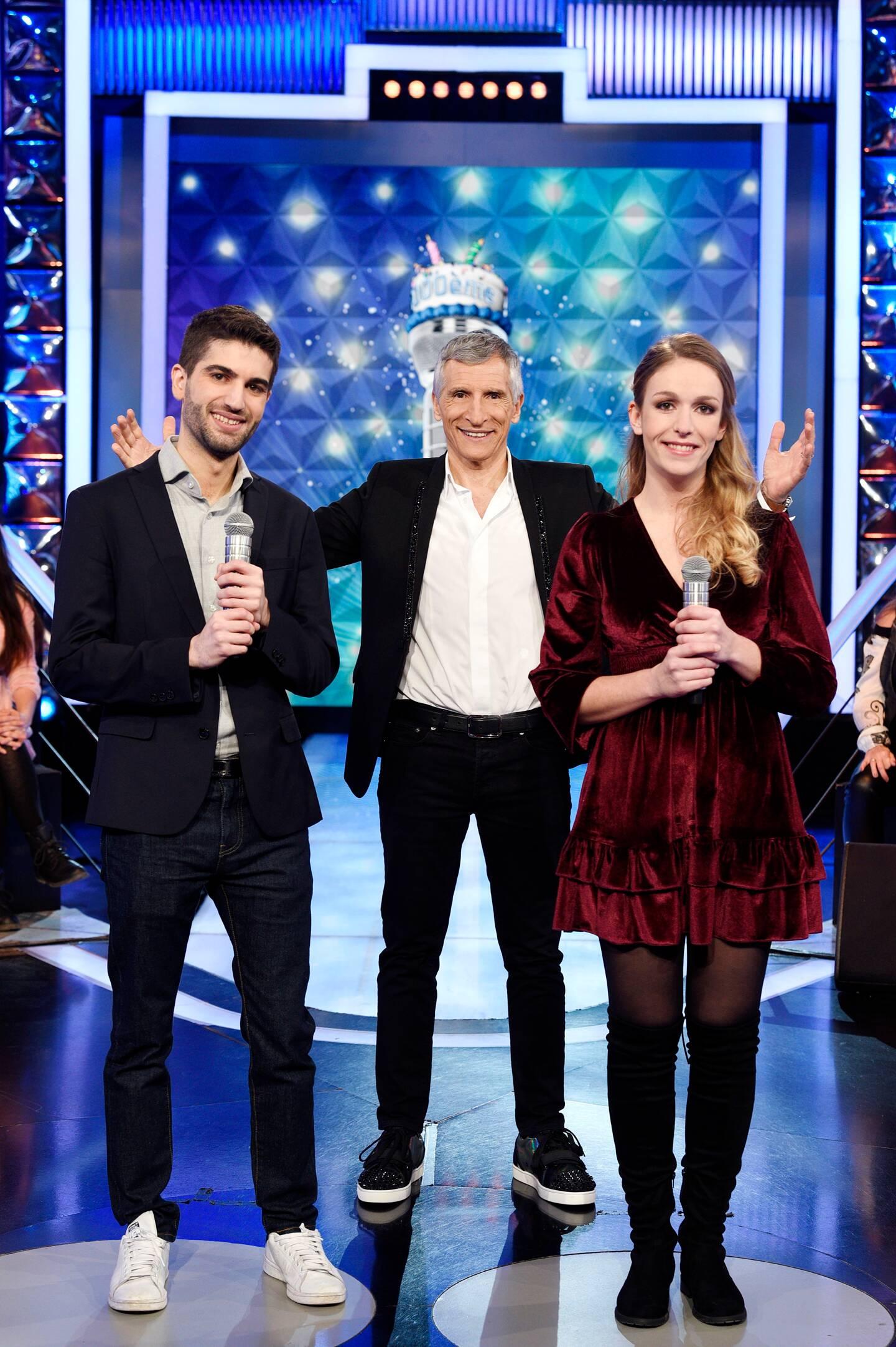 Kevin, Nagui et Margaux, le tiercé gagnant.