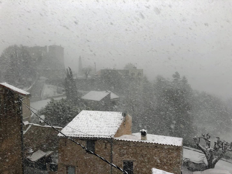 Le château dans la neige.