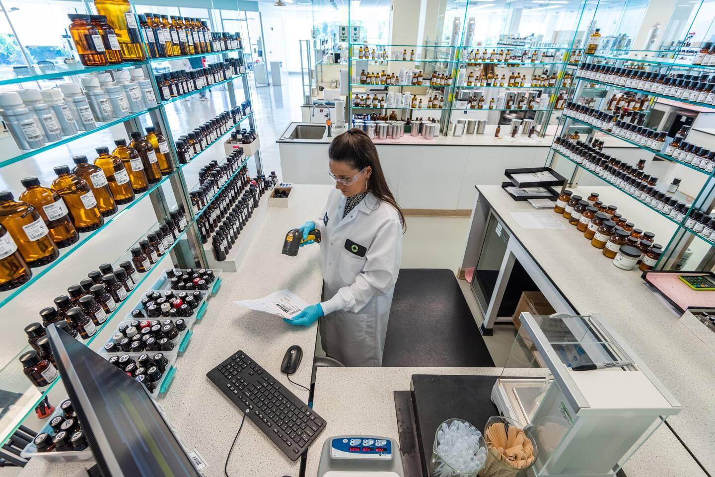 L'un des nombreux laboratoires dans le monde de la société Givaudan.