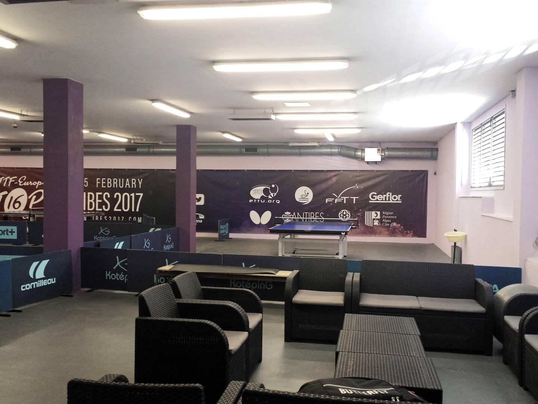 Ci-dessus, la prochaine salle de tennis de table de l'Olympique d'Antibes, prochainement construite sur le site de Gilbert-Auvergne.