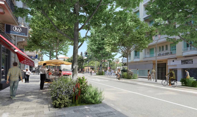 Une piste latérale bidirectionnelle sera installée dans le sens montant de la partie sud du boulevard Gambetta.