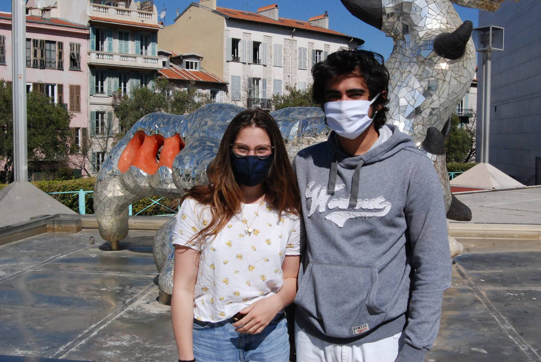 Océane et Robin, étudiants au Conservatoire national de région.