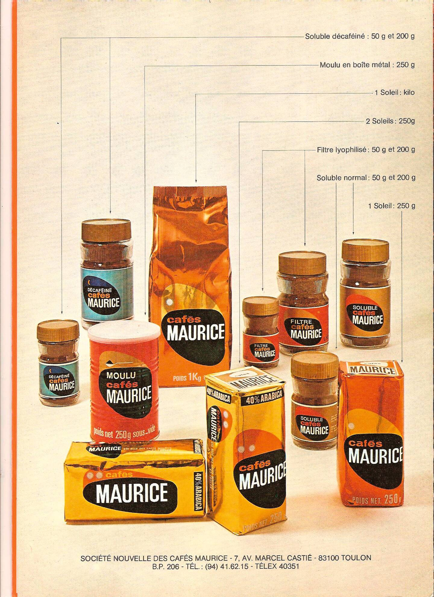 Moulu, soluble, sous vide: les Cafés Maurice étaient incontournables sur le marché.