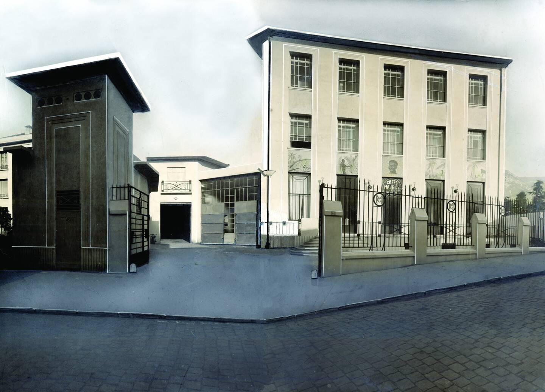 L'usine de torréfaction construite dans les années 30.