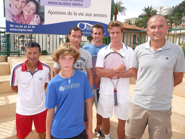Rublev au Nice LTC en compagnie de Didier Frantz, JR. Lisnard, Alexis Moreau, Philippe Weiss.