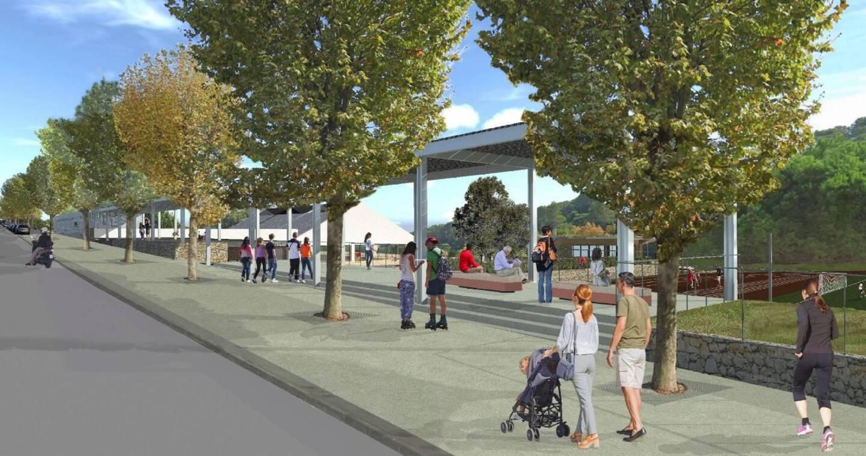 La rénovation du complexe sportif devrait aussi changer la face du boulevard Teisseire: trottoirs élargis, esplanades, ombrières, etc. sur le toit des nouveaux vestiaires.