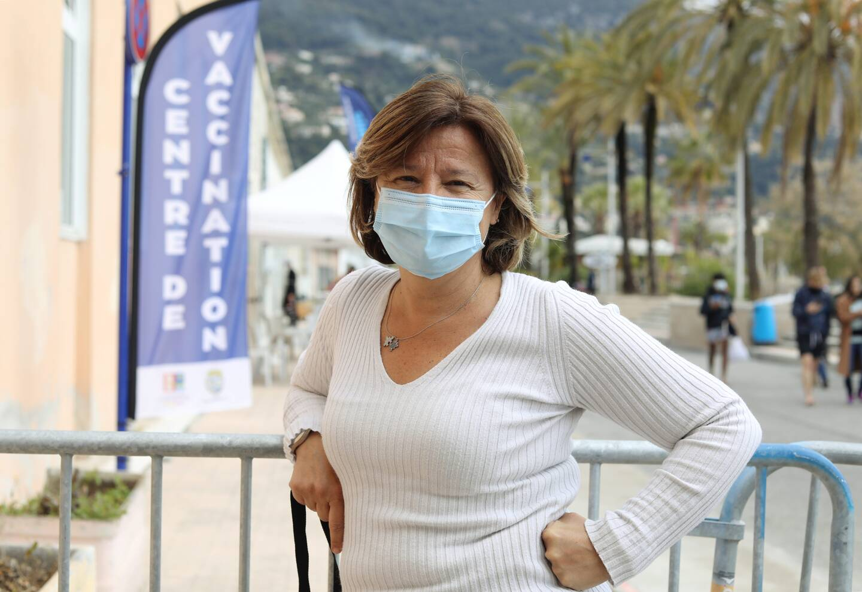 Marie-Laure Morgado, responsable logistique du Centre de vaccination de Menton