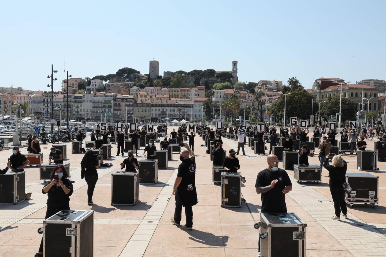 Manifestation des intermittents du spectacle sur la Pantiero