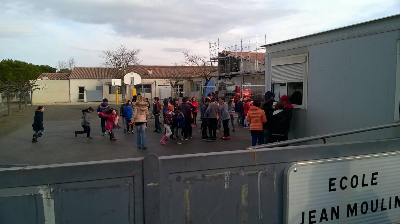 Retour d'une partie des élèves, fin janvier, à Saint-Maximin.
