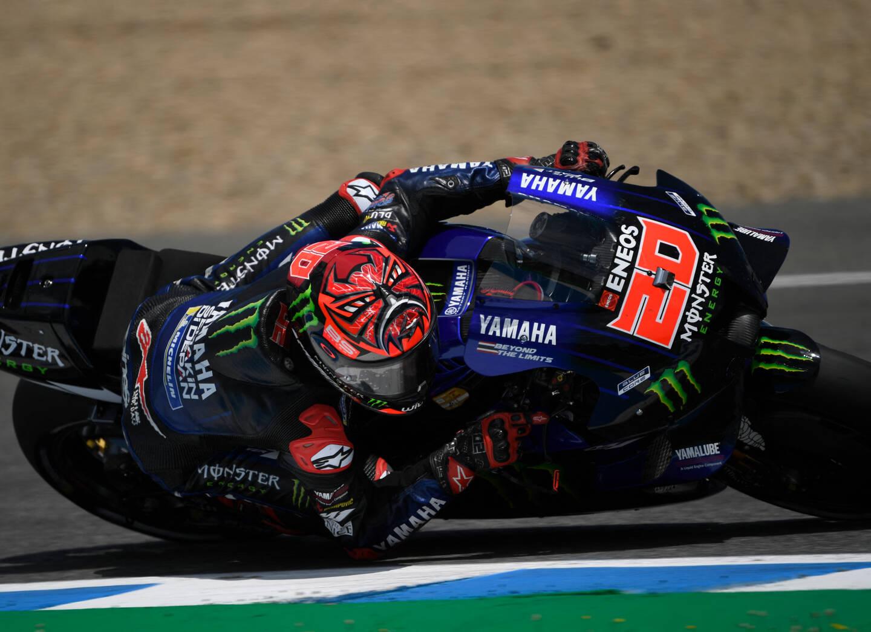Fabio Quartararo, toujours à l'aise à Jerez
