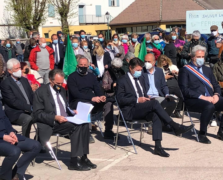 Renaud Muselier et Christian Estrosi hier à Tende, partagés entre inauguration joyeuse et guerres intestines à droite.