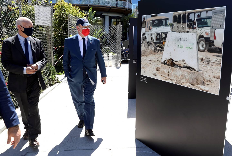 Le prince Albert II a découvert l'exposition vendredi, jardin des Boulingrins.