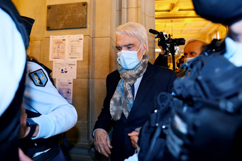Bernard Tapie, en octobre 2020, au Palais de justice de Paris.(Photo AFP)