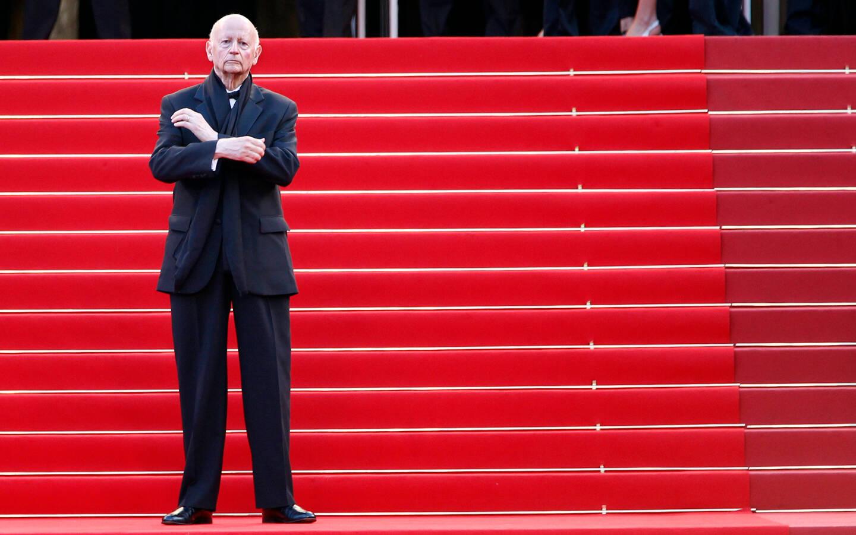 Gilles Jacob lors de la montée des marches au Festival de Cannes.