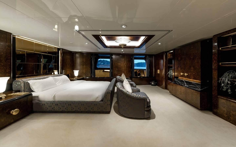 Le luxe est aussi dans chacune des cabines. C'est l'Italien Luigi Sturchio qui était le designer intérieur.