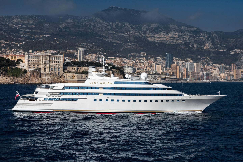 Le Lady Moura a fait de Monaco son port d'attache.