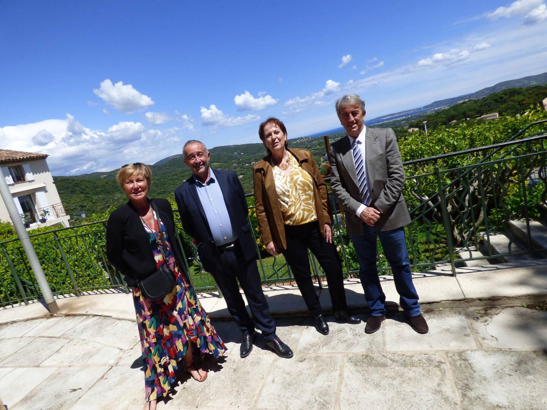 L'équipe de la majorité départementale représentée par Alain Benedetto et Muriel Lecca-Berger.