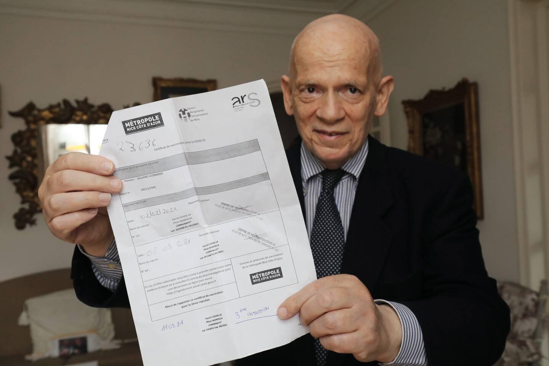 Mardi dernier, comme douze autres Azuréens, Leonardo Saviano, 75 ans, a reçu une troisième dose de vaccin Pfizer.
