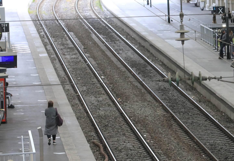 """Les cheminots azuréens sont en grève depuis le 9avril, pour dénoncer une """"charge mentale"""" qui pèse sur les conducteurs de trains."""
