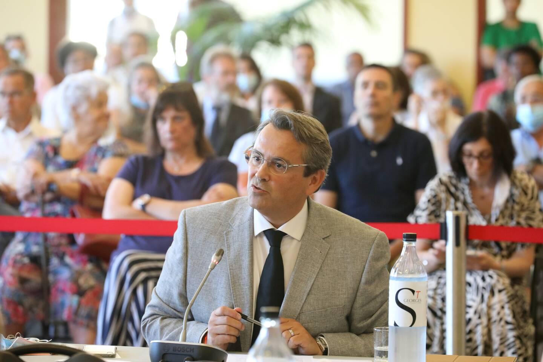 Olivier Bettati, lors de la séance d'installation du conseil municipal.