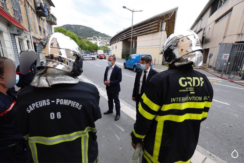 Le maire de Nice, Christian Estrosi, et son premier adjoint, Anthony Borré, se trouvaient à quelques mètres au Palais des expositions.