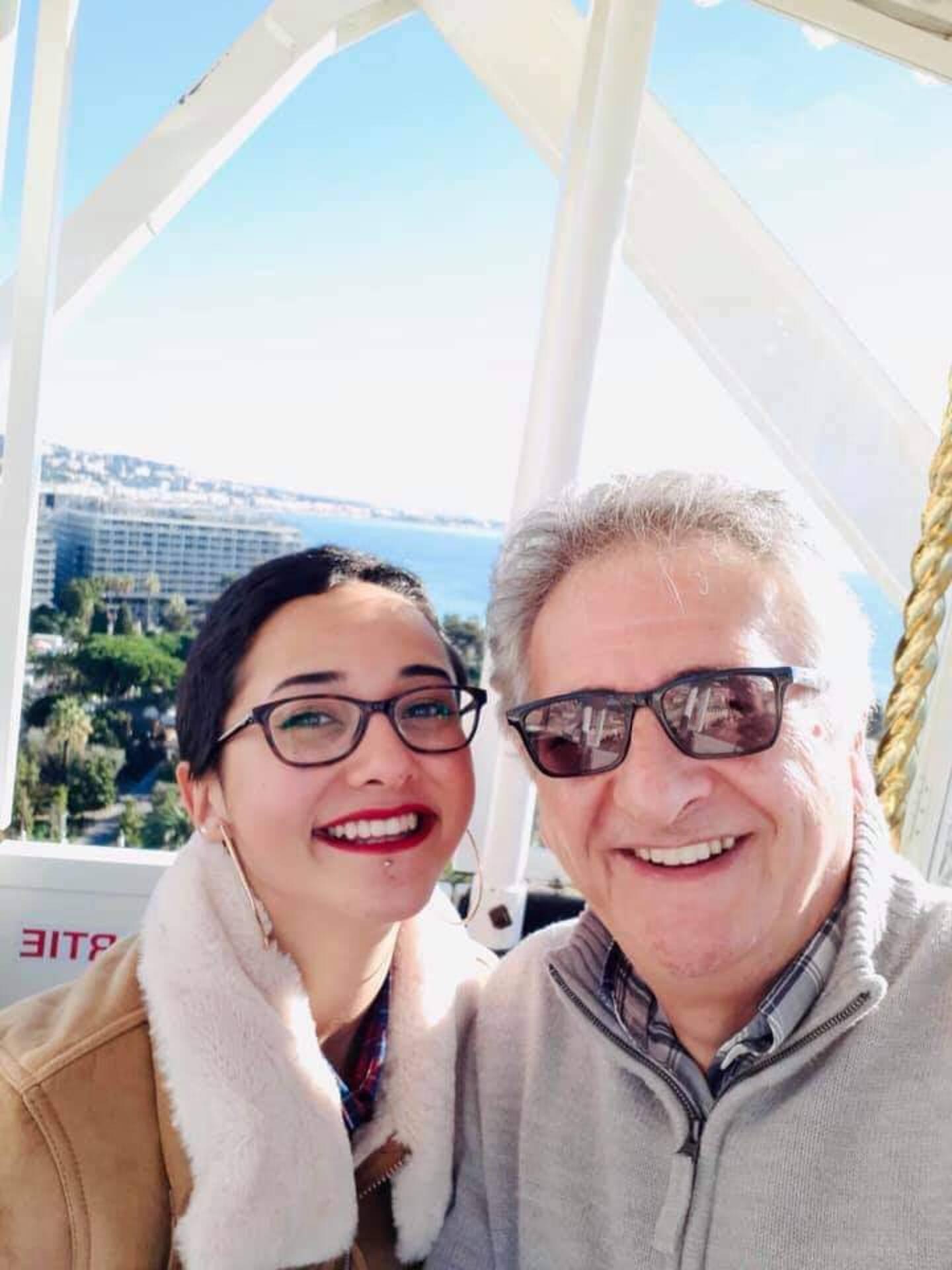 Alberto Davico ne cache pas sa fierté pour sa fille, Margherita.