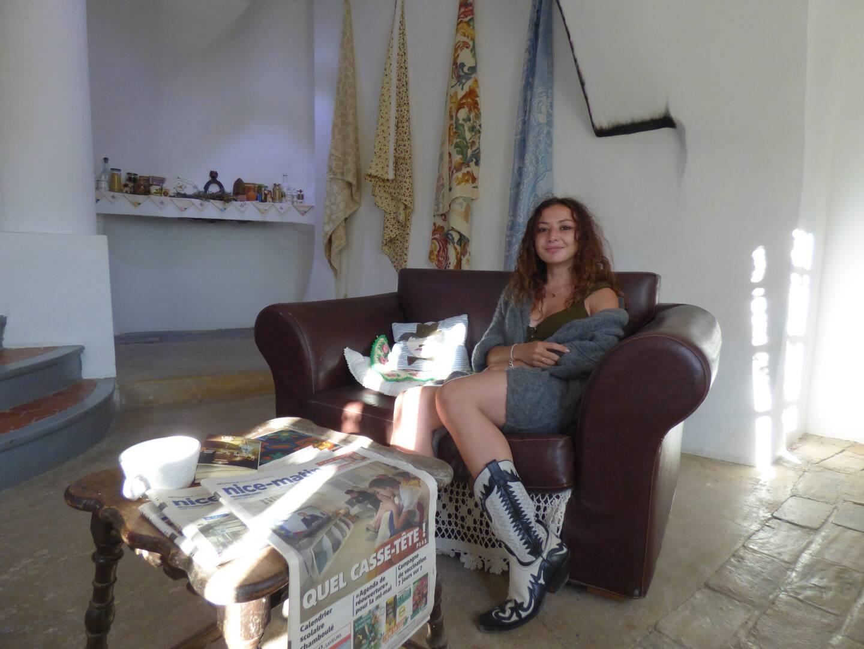 Paloma Luz Diaz a voulu faire revivre l'ancien lieu d'habitation. (Photo L. Q.)