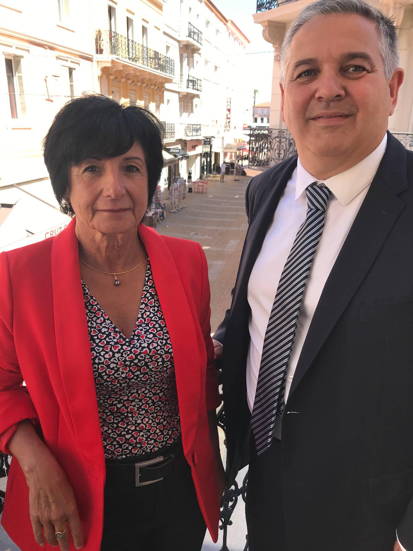 Martine Arenas et Nicolas Martel, le binôme de la majorité départementale dans le canton de Roquebrune-Pays de Fayence.