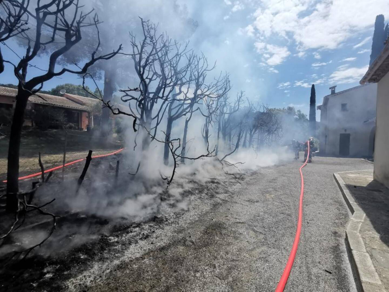 L'intervention des secours s'est déroulée au hameau de Cabasson à Bormes.